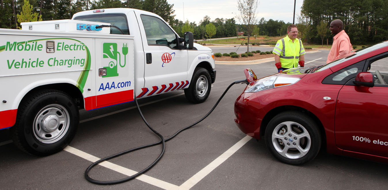 AAA charging truck