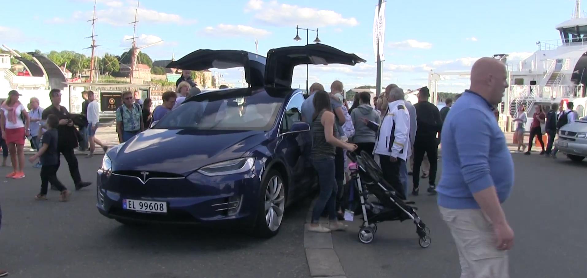 Tesla Model X bjorn show car