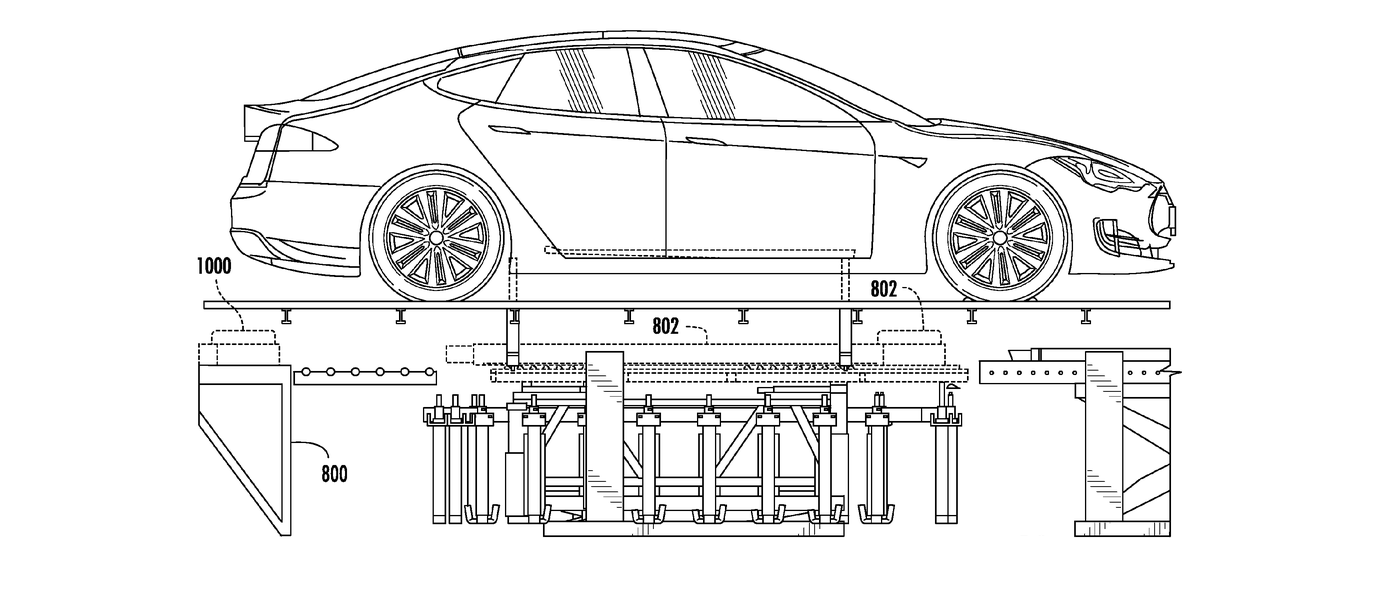 tesla u2019s battery swapping magic revealed in new patent application drawings