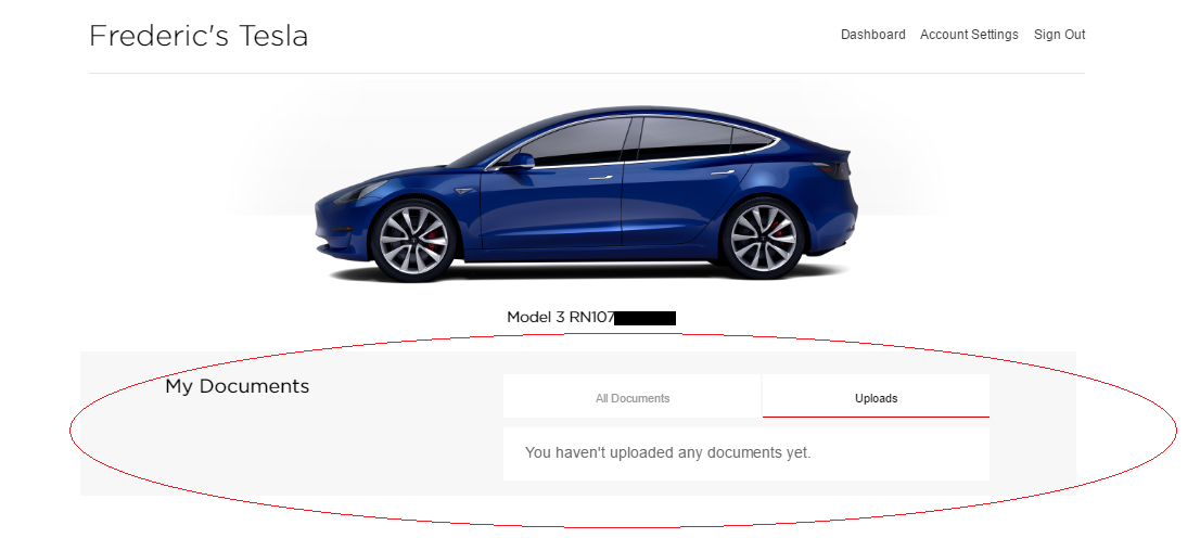 Tesla updates Model 3 reservation page with 'My Documents ...