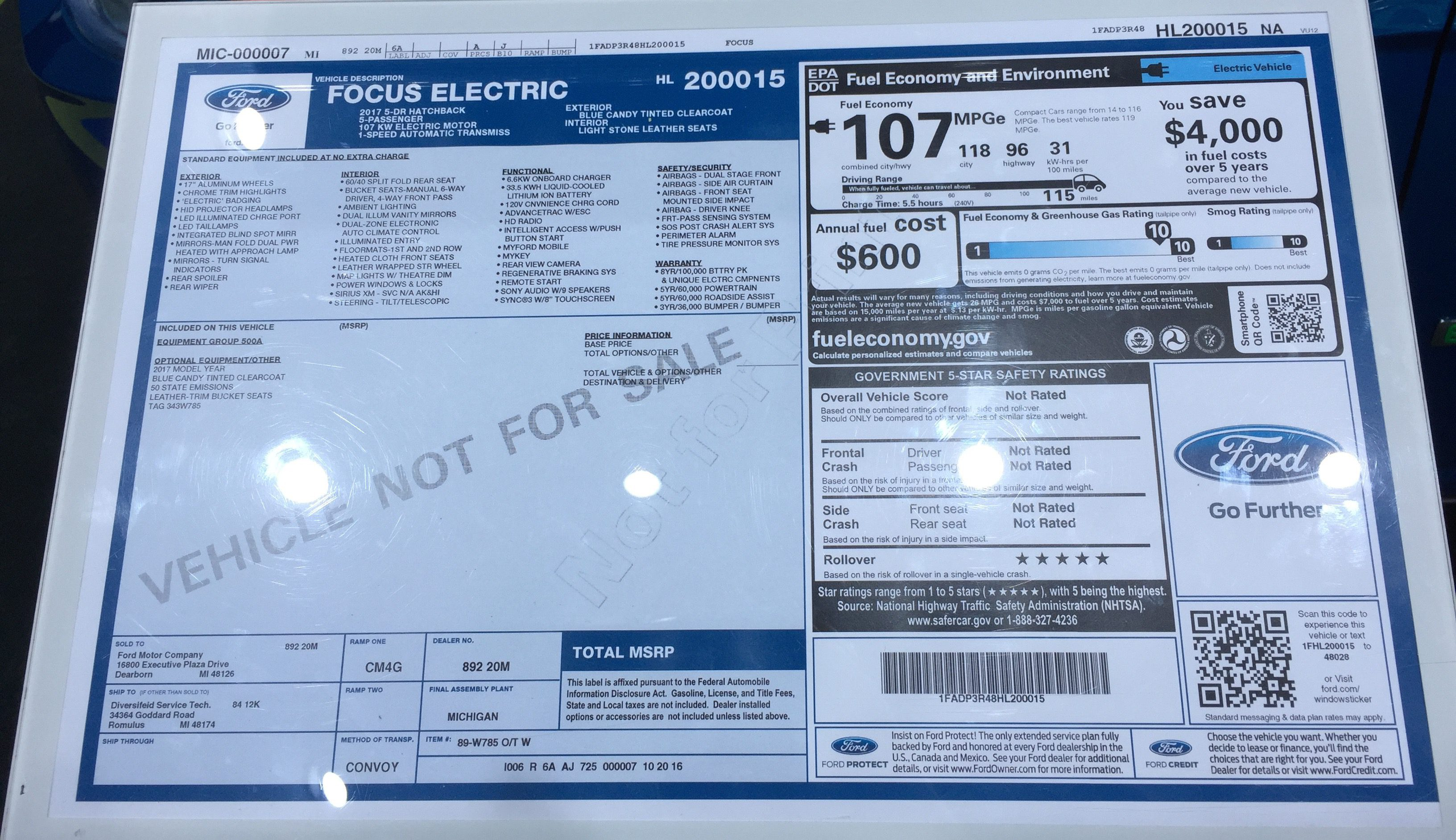 2017 Ford Focus Electric Coming With New 33 5 Kwh Battery Pack For 115 Miles Of Range