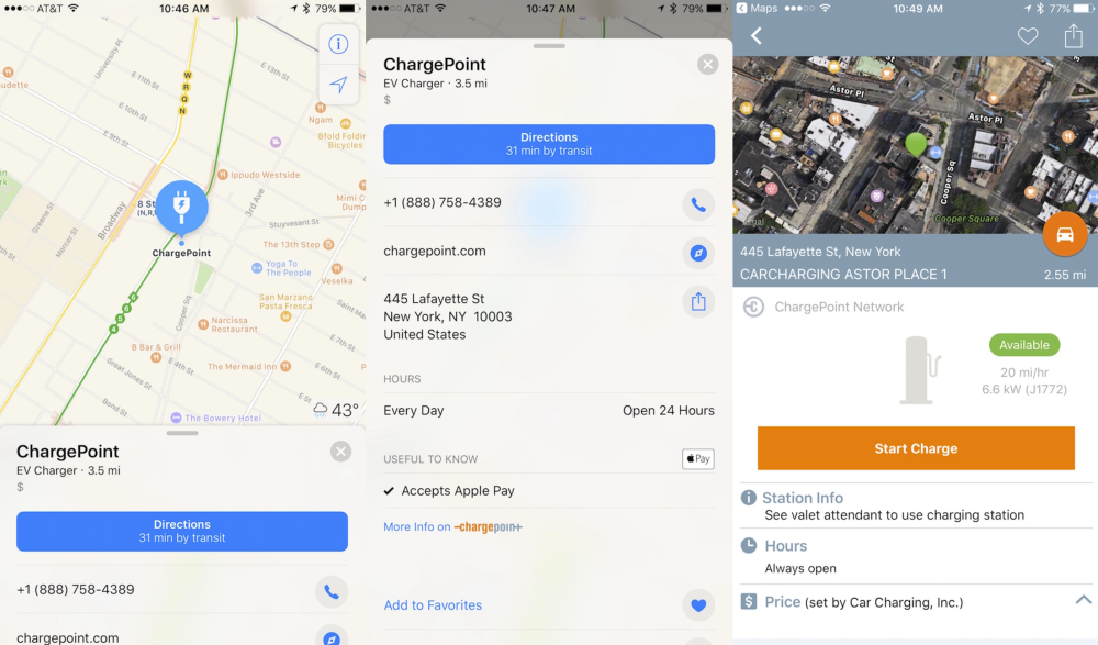 chargepoint-apple-maps