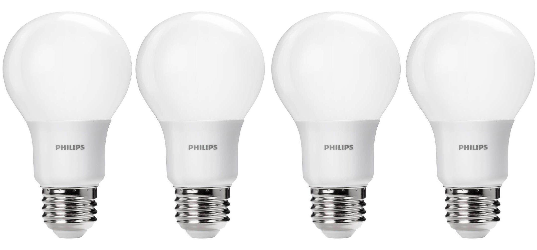 Green Deals 4 Pack Philips 60w A19 Daylight Led Light Bulbs 8 Reg 15 More Electrek
