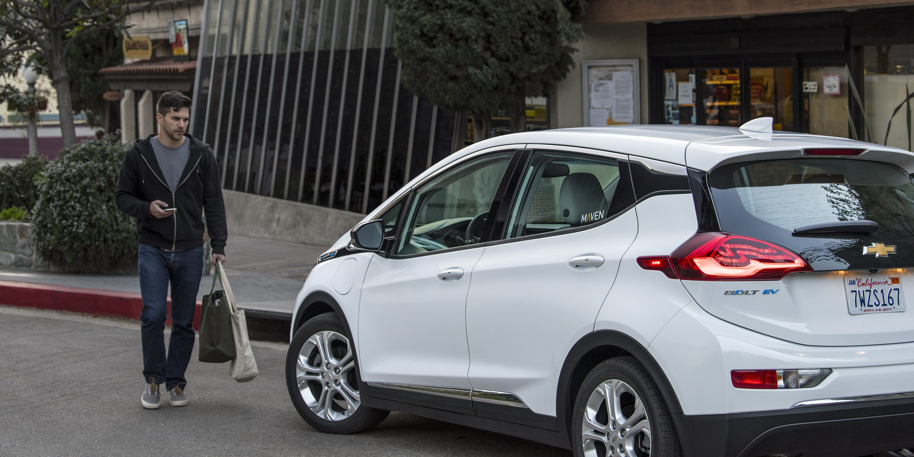 Maven to expand L.A. car-sharing and ridesharing services by introducing the Chevrolet Bolt EV to the fleet.