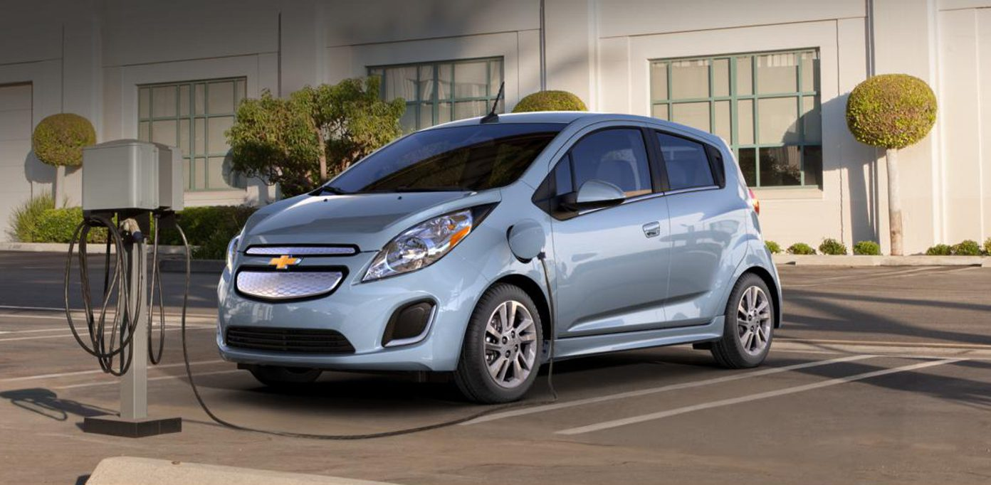 chevy-spark-ev-on-charger