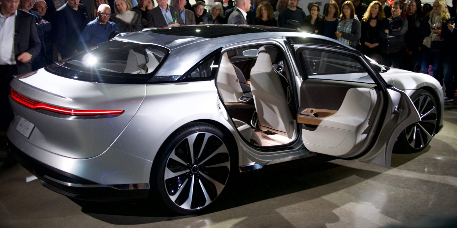 """Lucid Motors shows off their """"airy"""" interior at a private ..."""