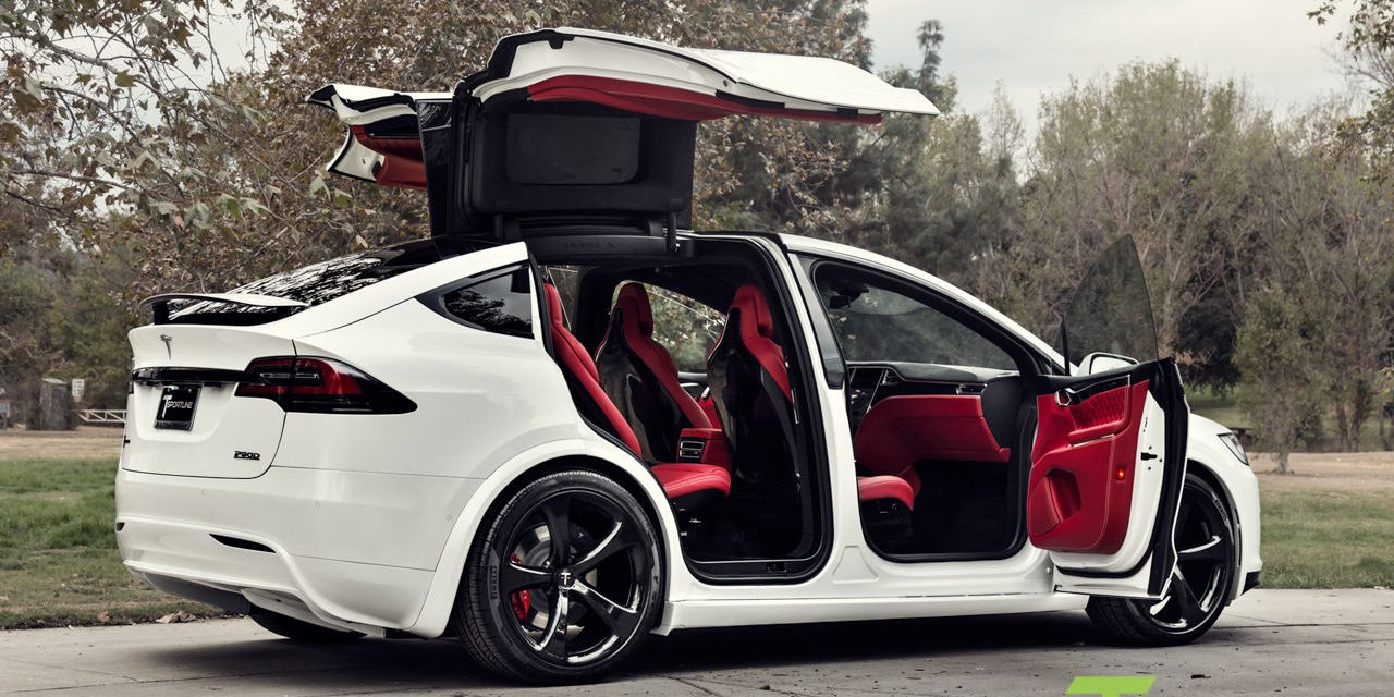 a custom tesla model x with a bentley 39 s interior goes on. Black Bedroom Furniture Sets. Home Design Ideas