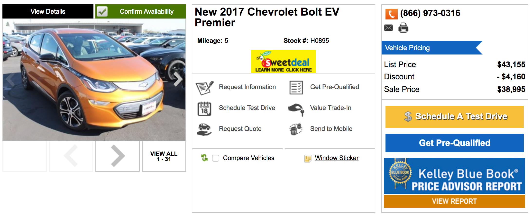 Chevy Bolt Ev Is Already Being Ed By 5 000 As Deliveries Are Stalling Ca Customers Paying 25k After Incentives