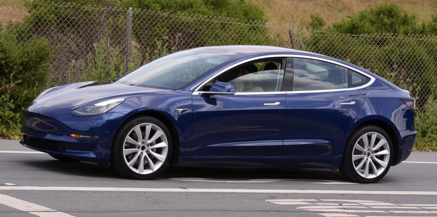 Tesla Model 3 Updated Version Of The Blue Release