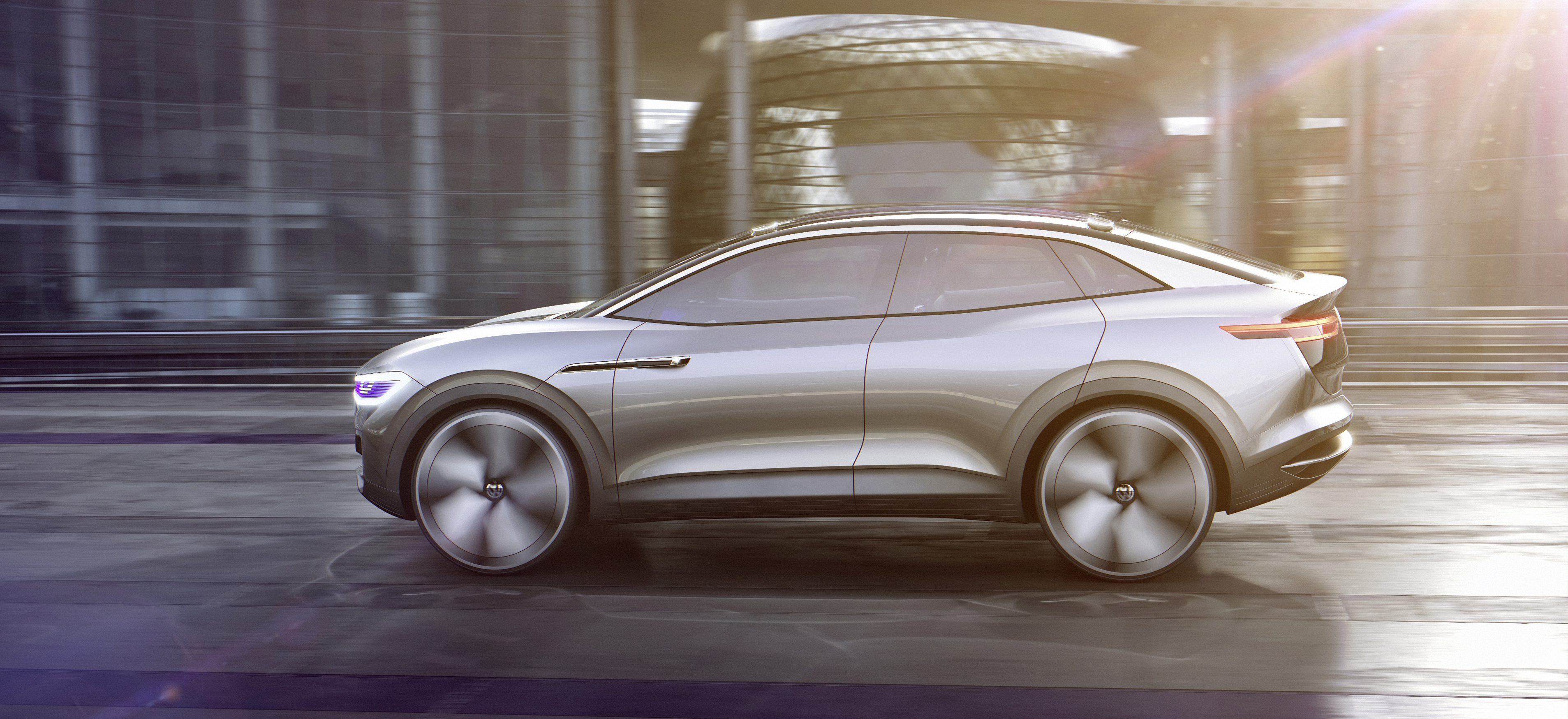 Vw Unveils New Crossover All Electric Id Concept 300 Miles Of Range And 150 Kw Charging