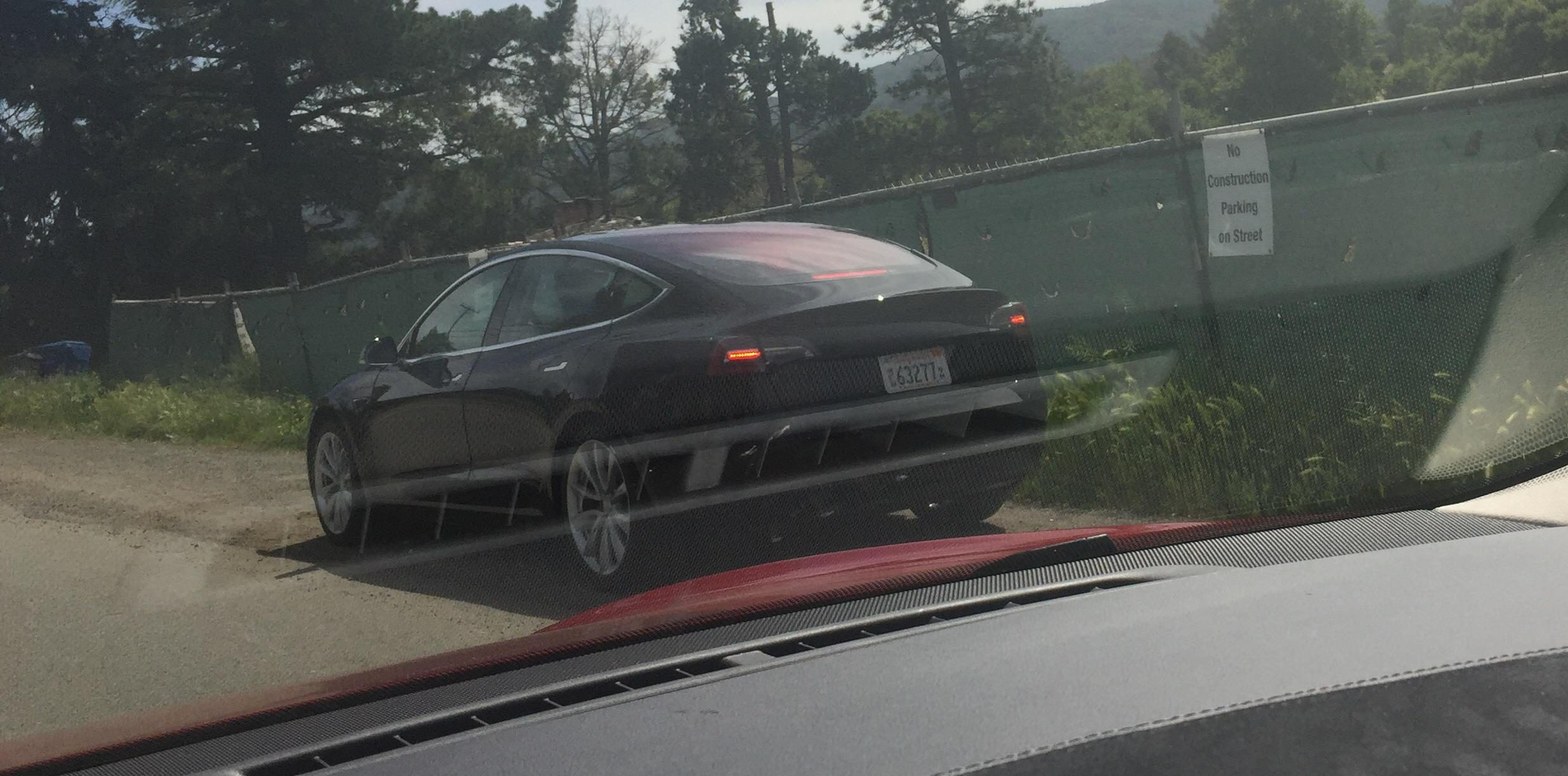 Tesla Model 3 release candidate spotted in the wild and ...