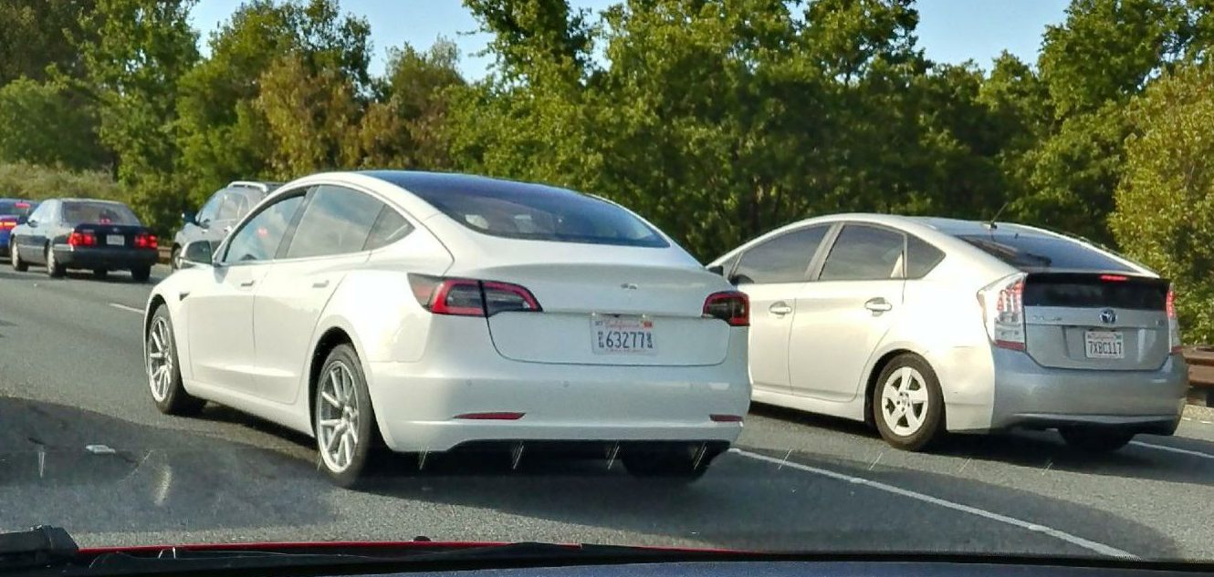 Tesla Model 3 New White Release Candidate Spotted Testing