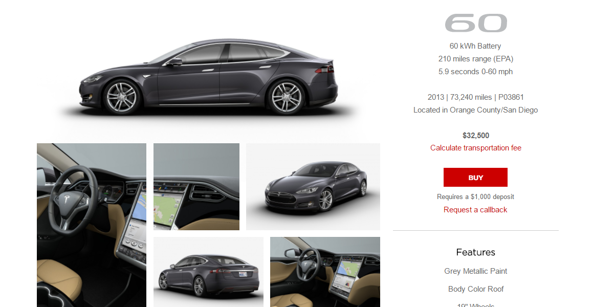 Tesla Certified Pre Owned >> Tesla Adds Lots Of Certified Pre Owned Model S Vehicles For