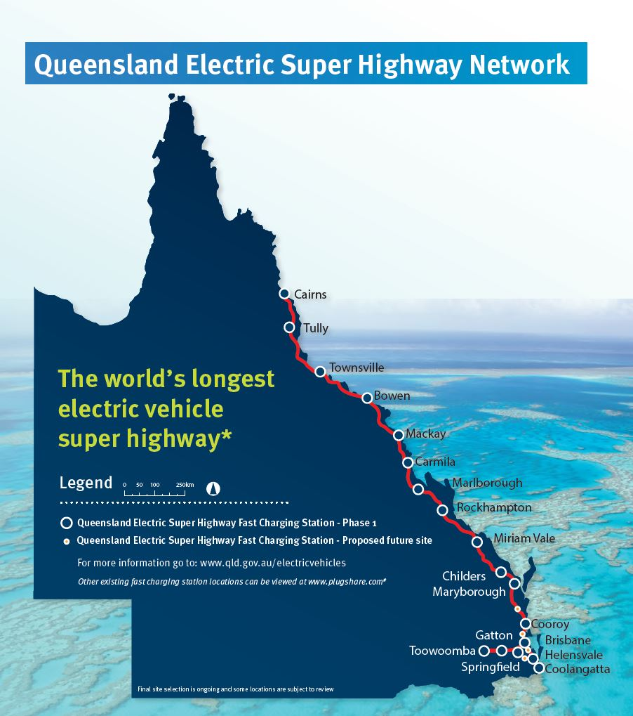 Australia to build 'Electric Super Highway' covering over 1,000 miles with fast-charging stations