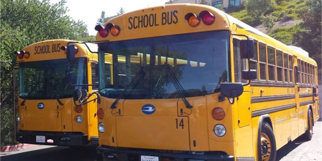Blue Bird Bus >> New All Electric School Buses Unveiled By Blue Bird With Vehicle To