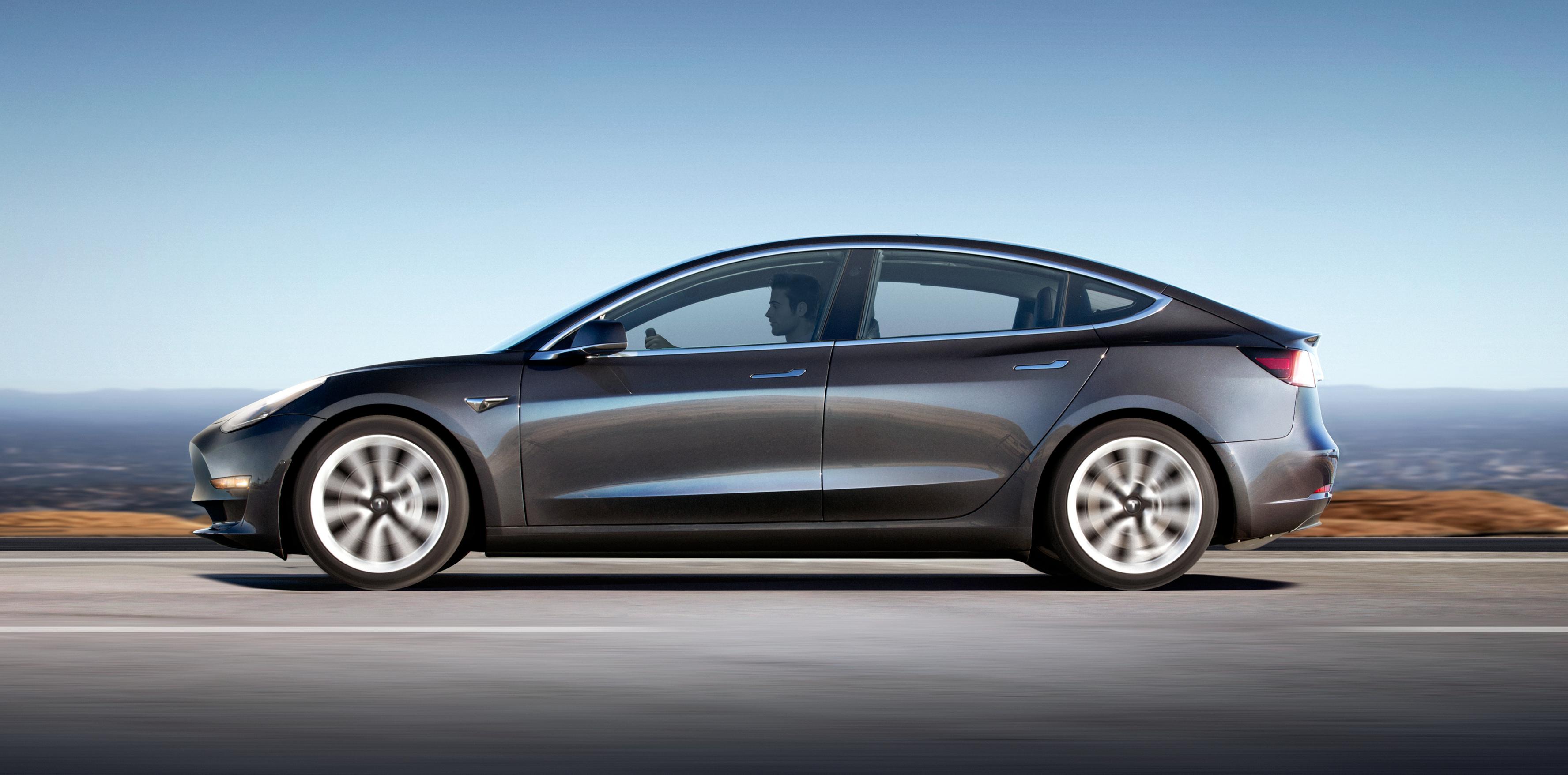 Tesla model 3 battery size