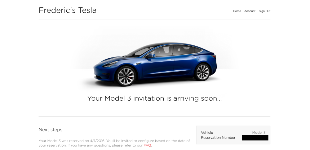 Tesla says 'Model 3 invitations arriving soon' for early ...