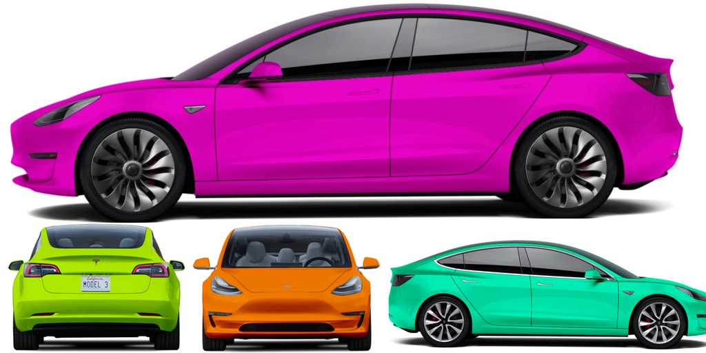 Tesla Model 3 Colors 3rd Party Configurator Gives You Thousands Of Color Trim Options