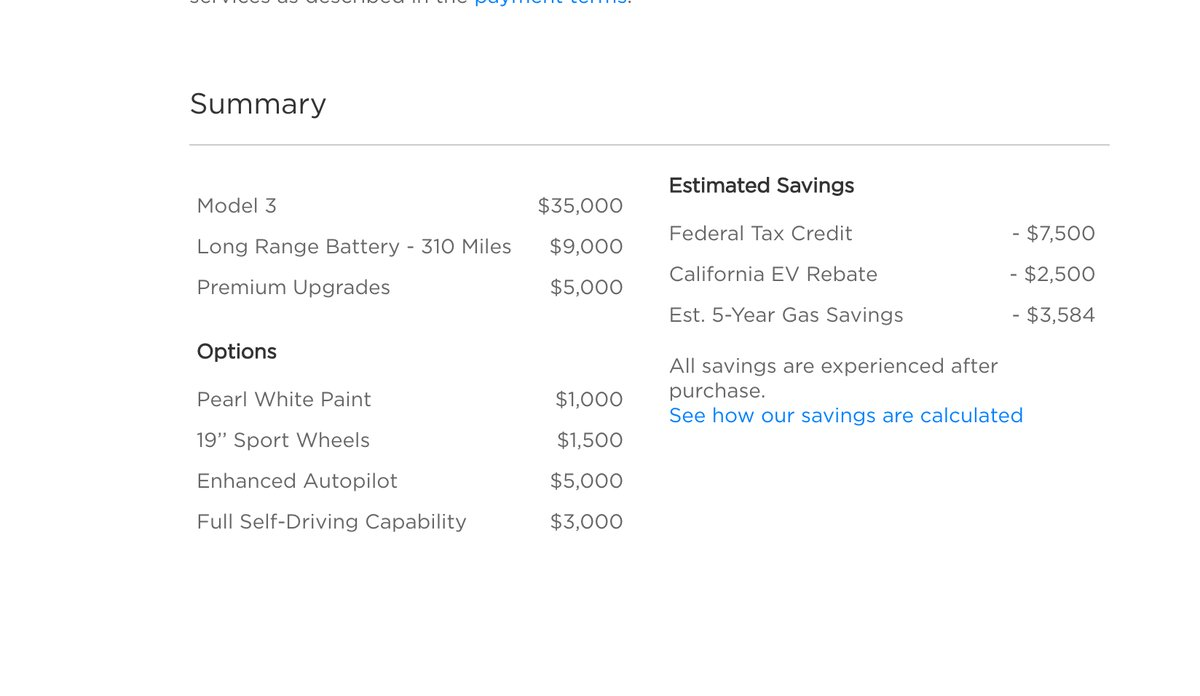 Tesla Model 3 Config 6 As You Can See The Price Adds Up Quickly When Going Fully Equipped