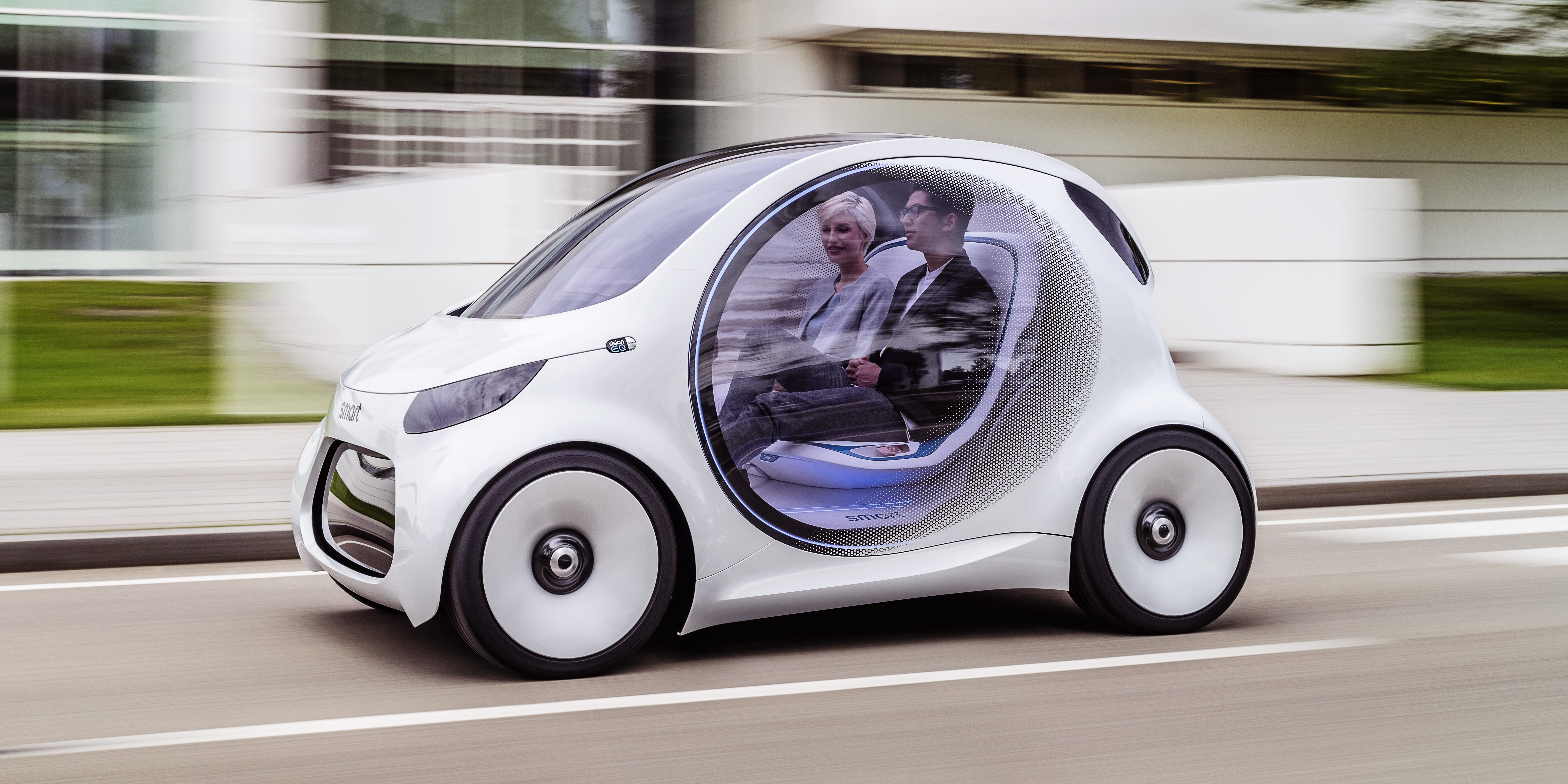 Mercedes unveils a new all-electric and autonomous Smart prototype for ride-sharing