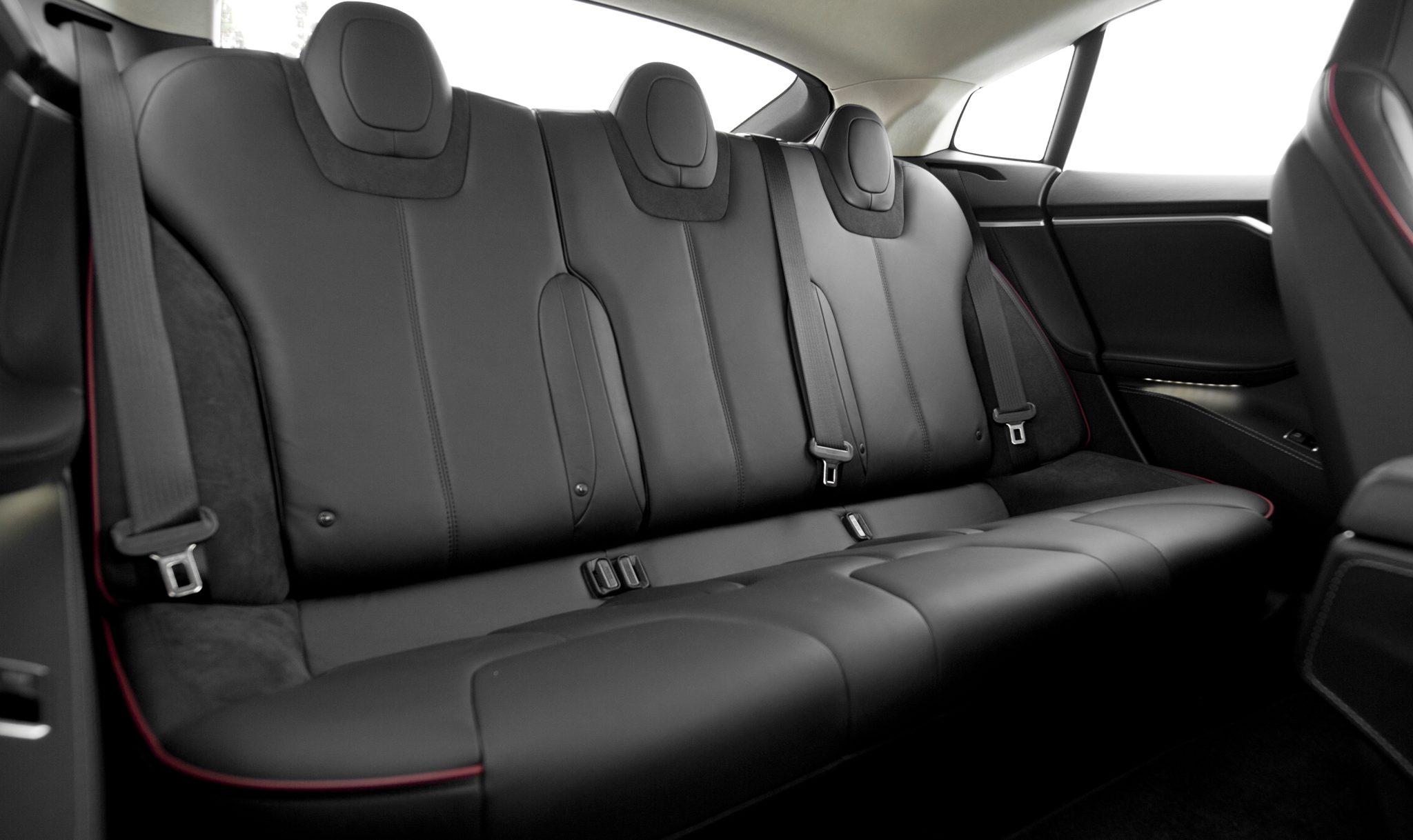 Tesla interior back seat