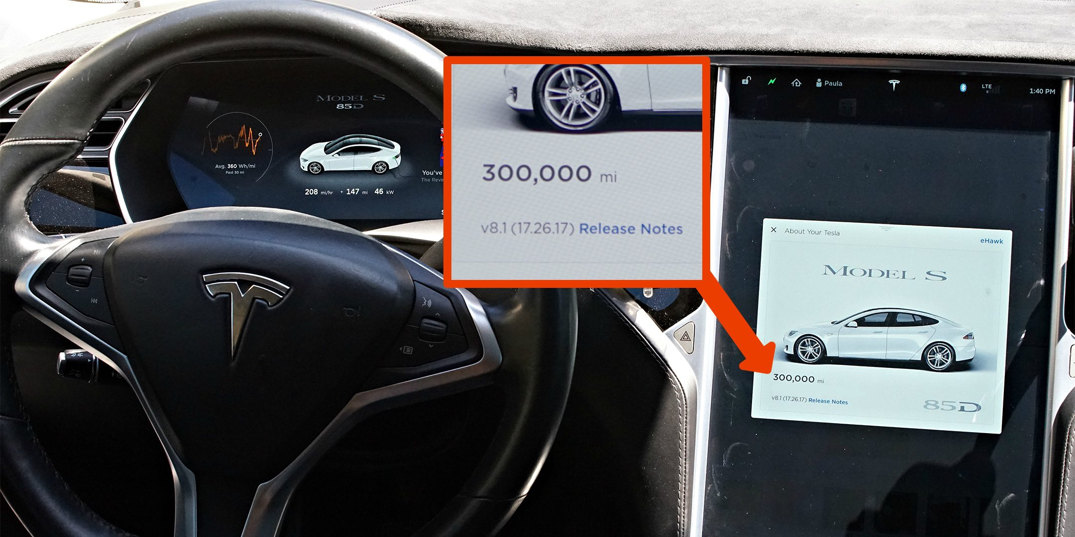 A Tesla Model S hits 300,000 miles in just 2 years – saving an estimated $60,000 on fuel and maintenance