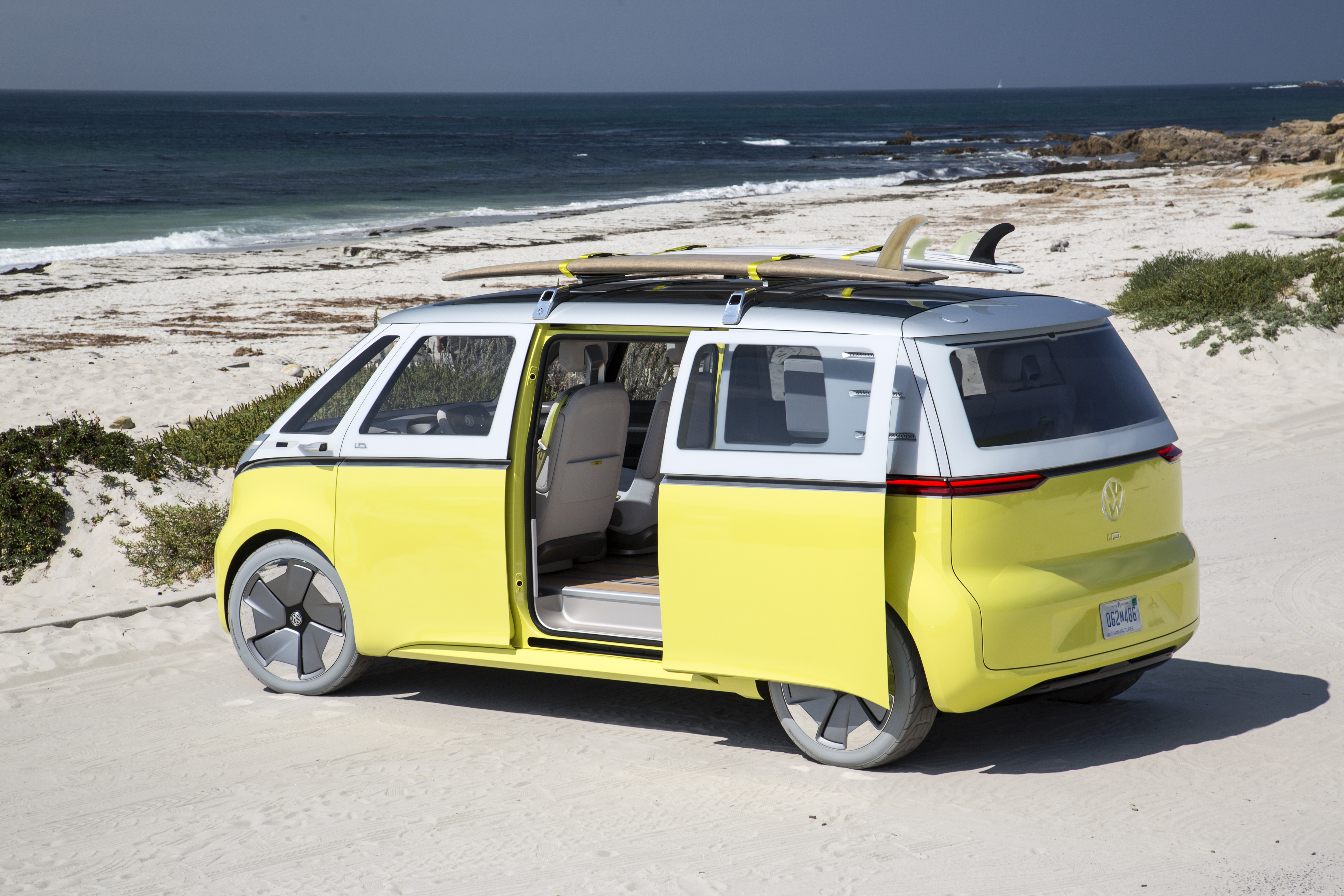 As For The I D Buzz Electric Microbus It Is A New Version Of Vw S Iconic They Brought To Monterey Working Prototype That First Unveiled