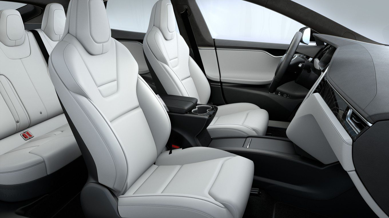 tesla updates model s interior with new back seats electrek. Black Bedroom Furniture Sets. Home Design Ideas