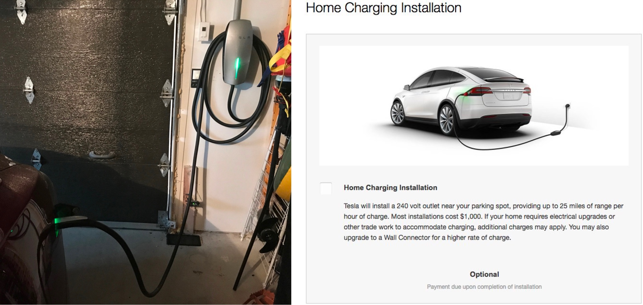 Tesla wall charger installation cost