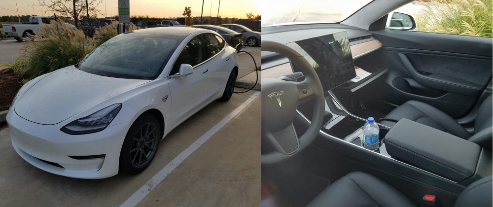 A Tesla Model 3 makes its way all the way across the ...