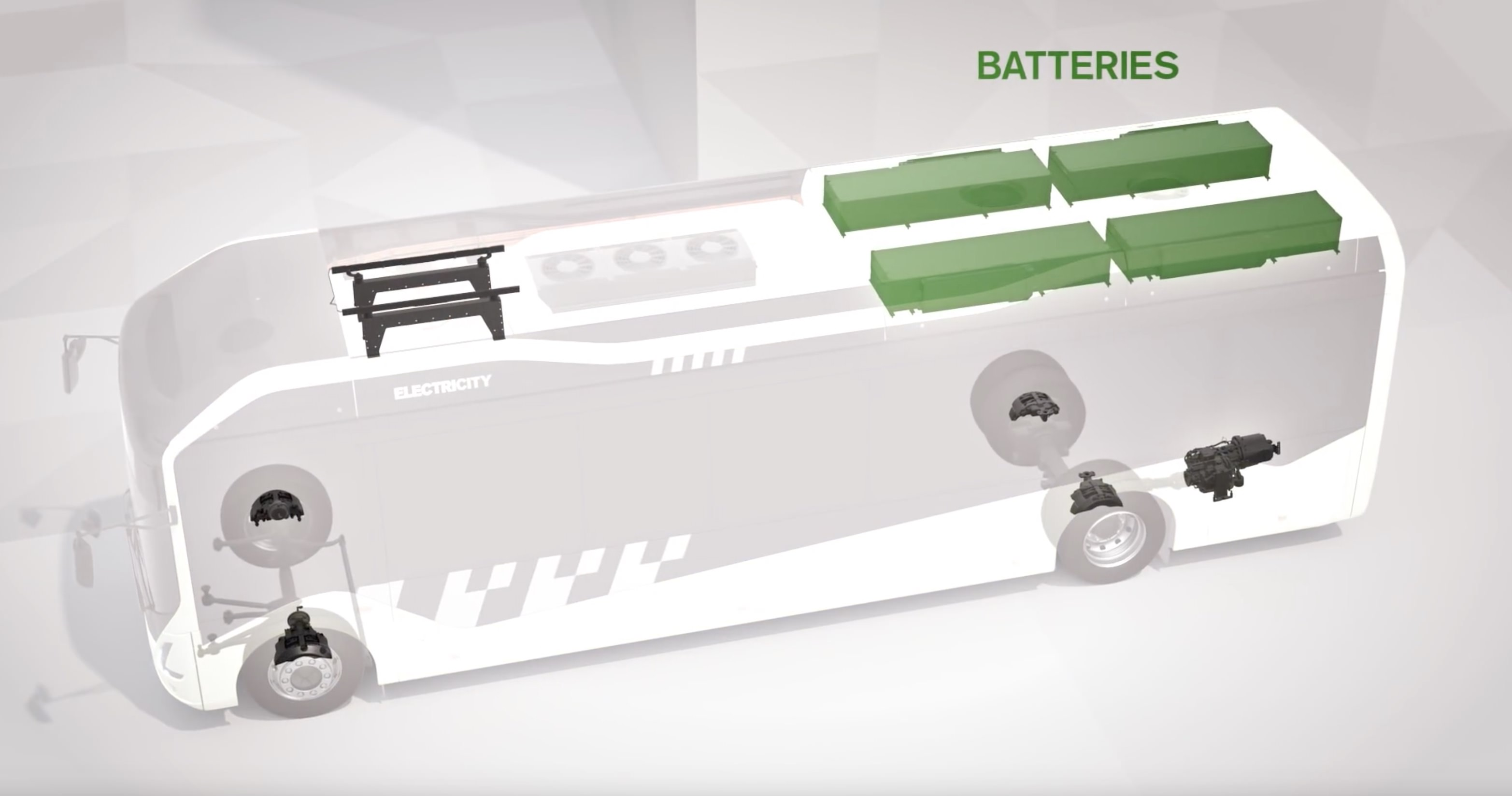 4 High capacity 19kWh Lithium-Ion batteries on Volvo 7900 electric bus