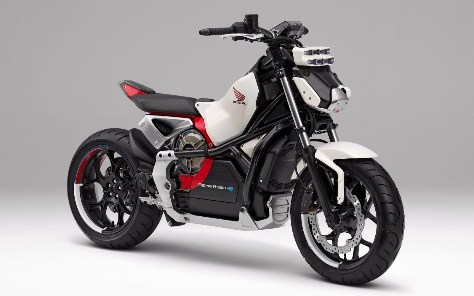 honda introduces riding assist e self balancing electric motorcycle electrek. Black Bedroom Furniture Sets. Home Design Ideas