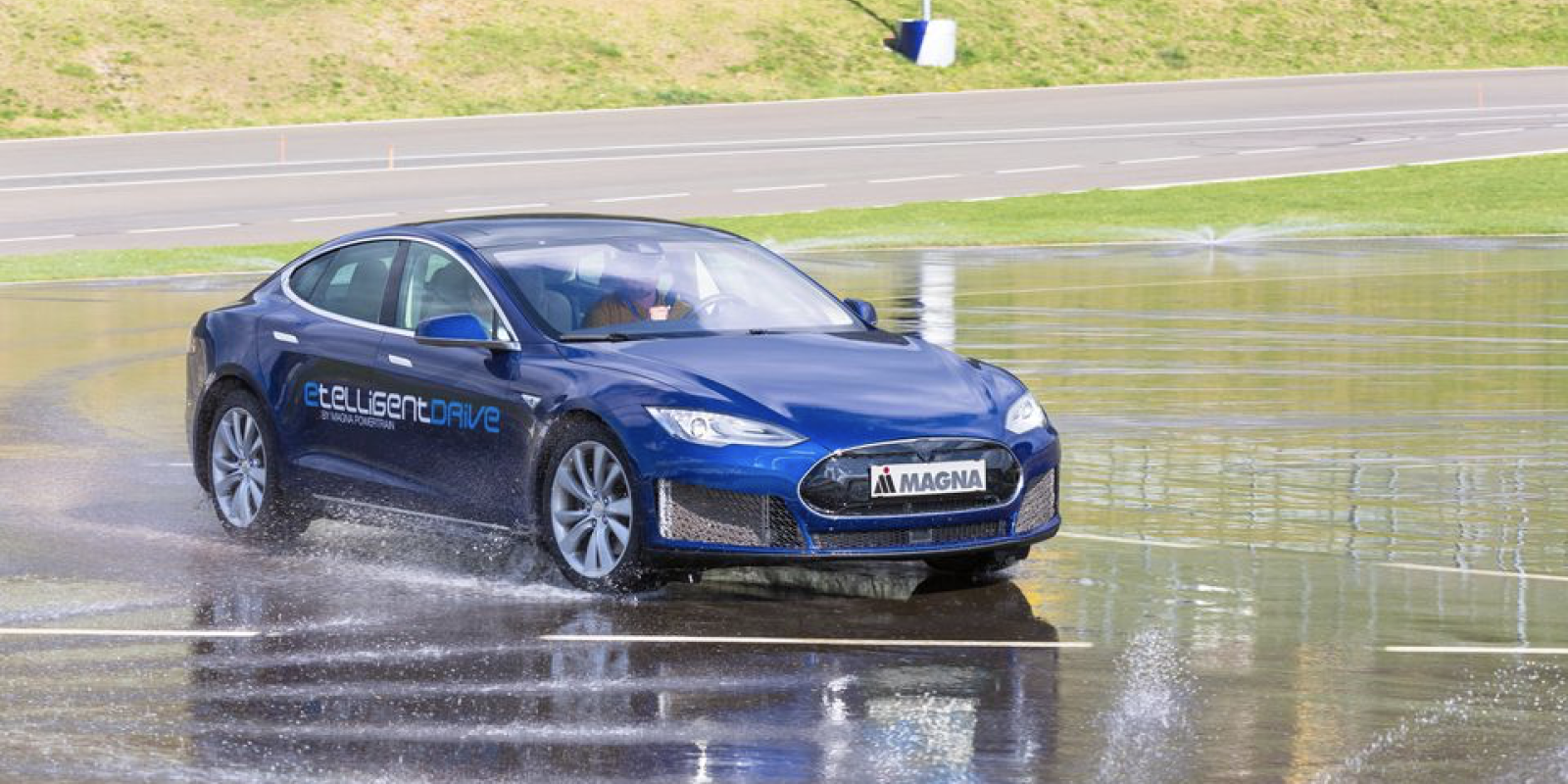 A Tesla Model S Prototype Gets 3 New Electric Motors By Magna
