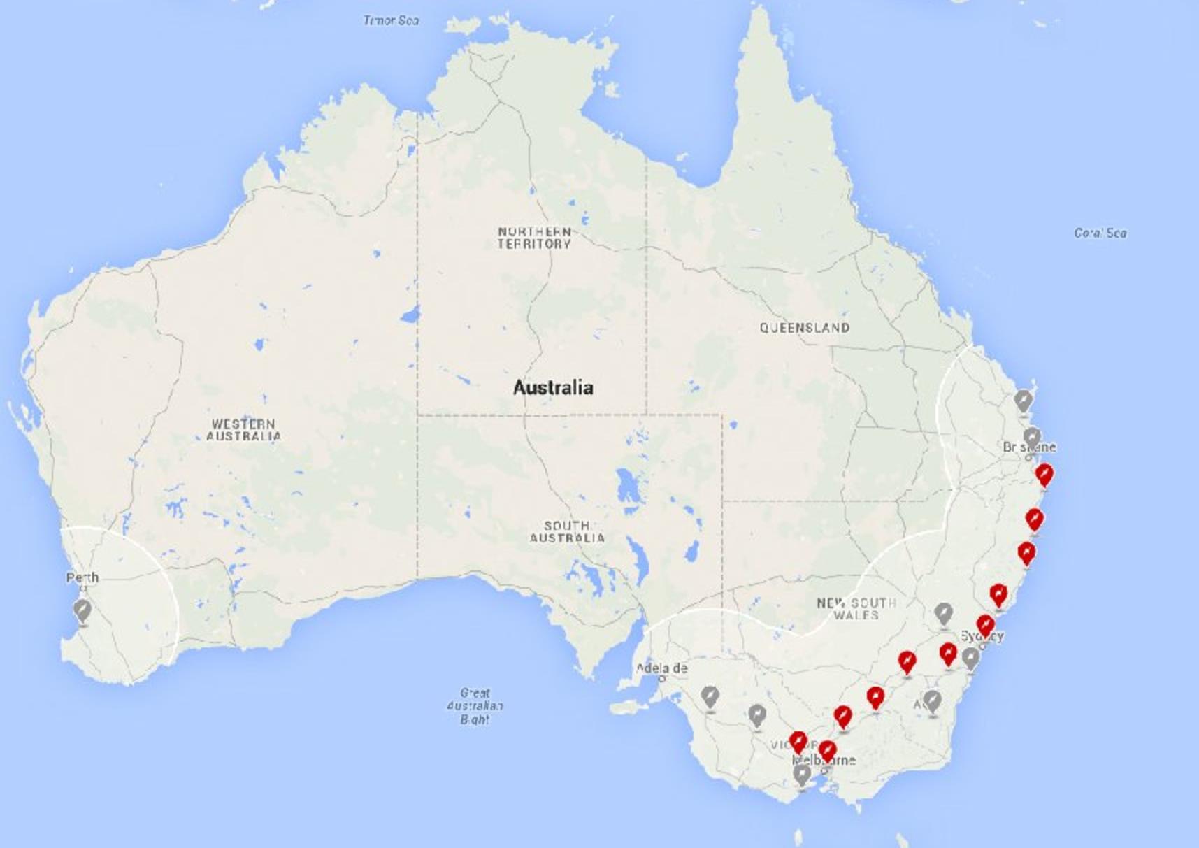 Tesla supercharger map australia | Motor News