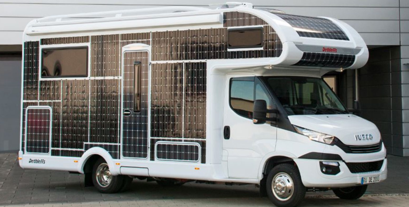 Electric motorhomes are coming: a new RV powered by solar panels and