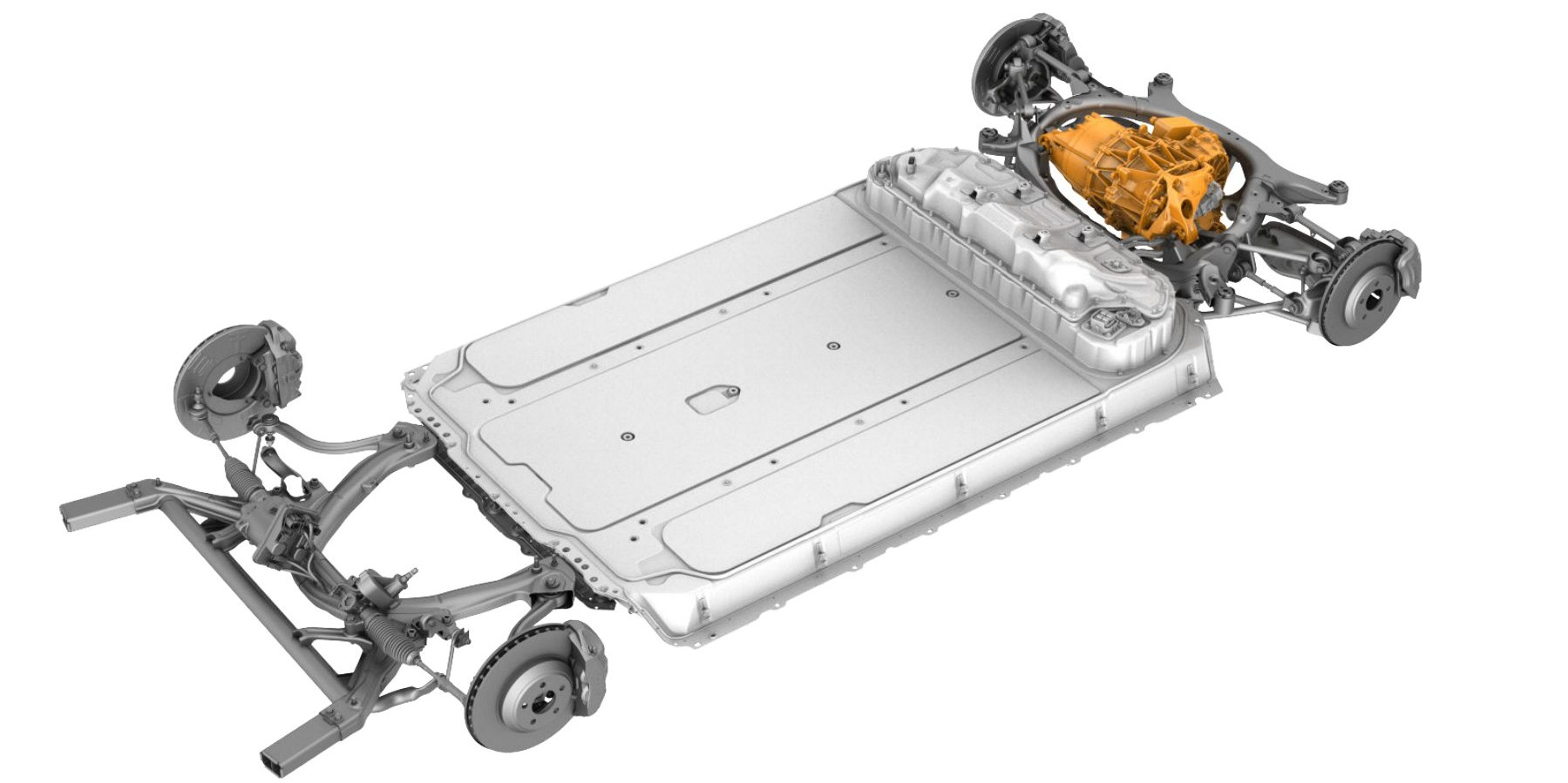 Tesla Model 3: interesting look at powertrain and chassis ...