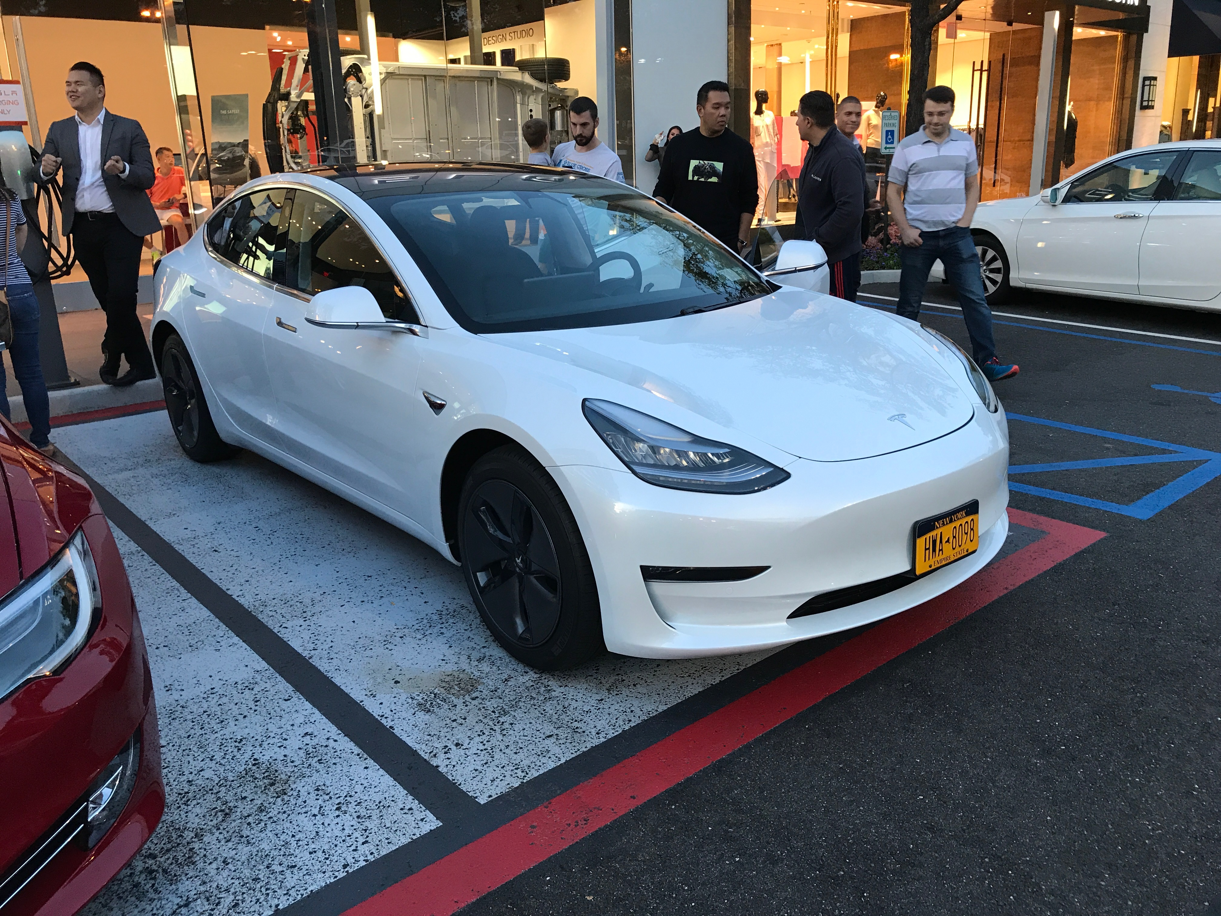 Tesla delivers first Model 3 in New York - first look at