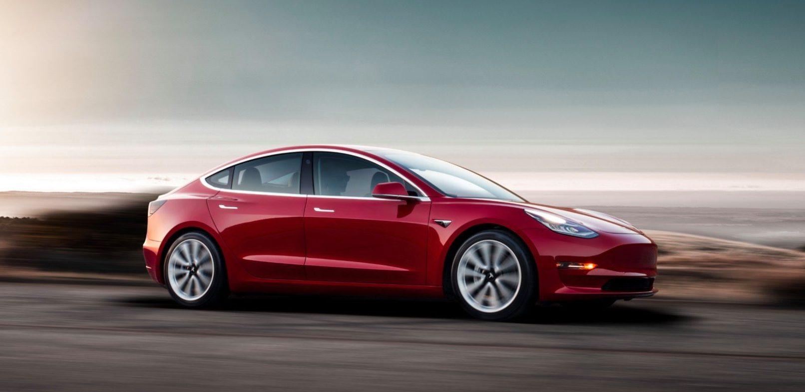 Tesla model 3 stock image