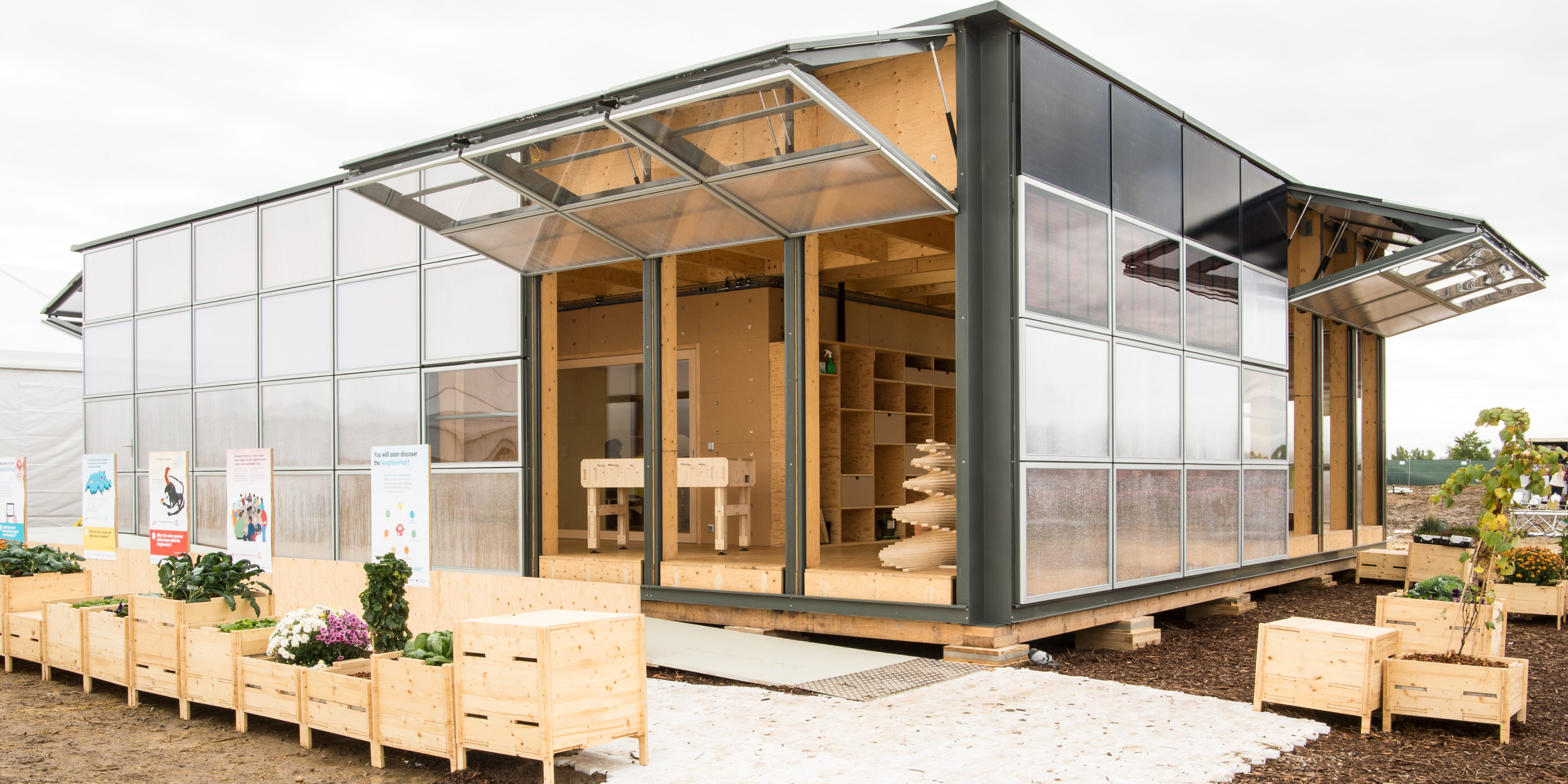 Winning Swiss solar powered 'Solar Decathlon' home wants to feed, clean and protect you