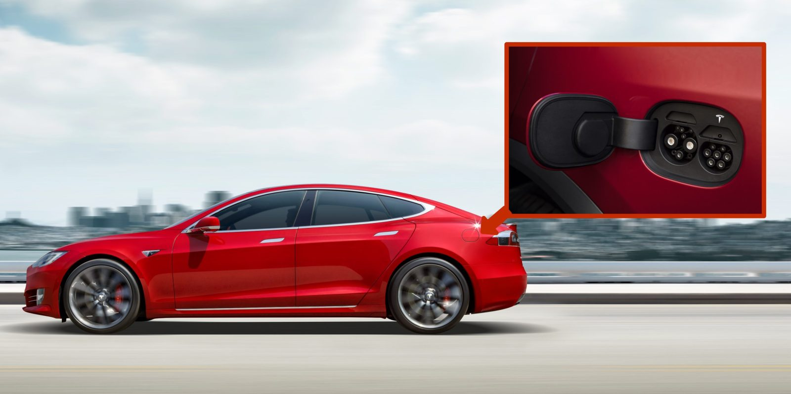 Tesla Unveils New Dual Connector Charge Port Design For Model Odel X