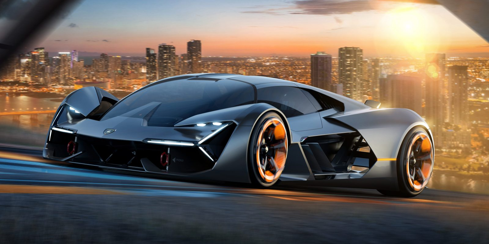 Lamborghini Unveils New Insane Looking Electric Supercar Concept