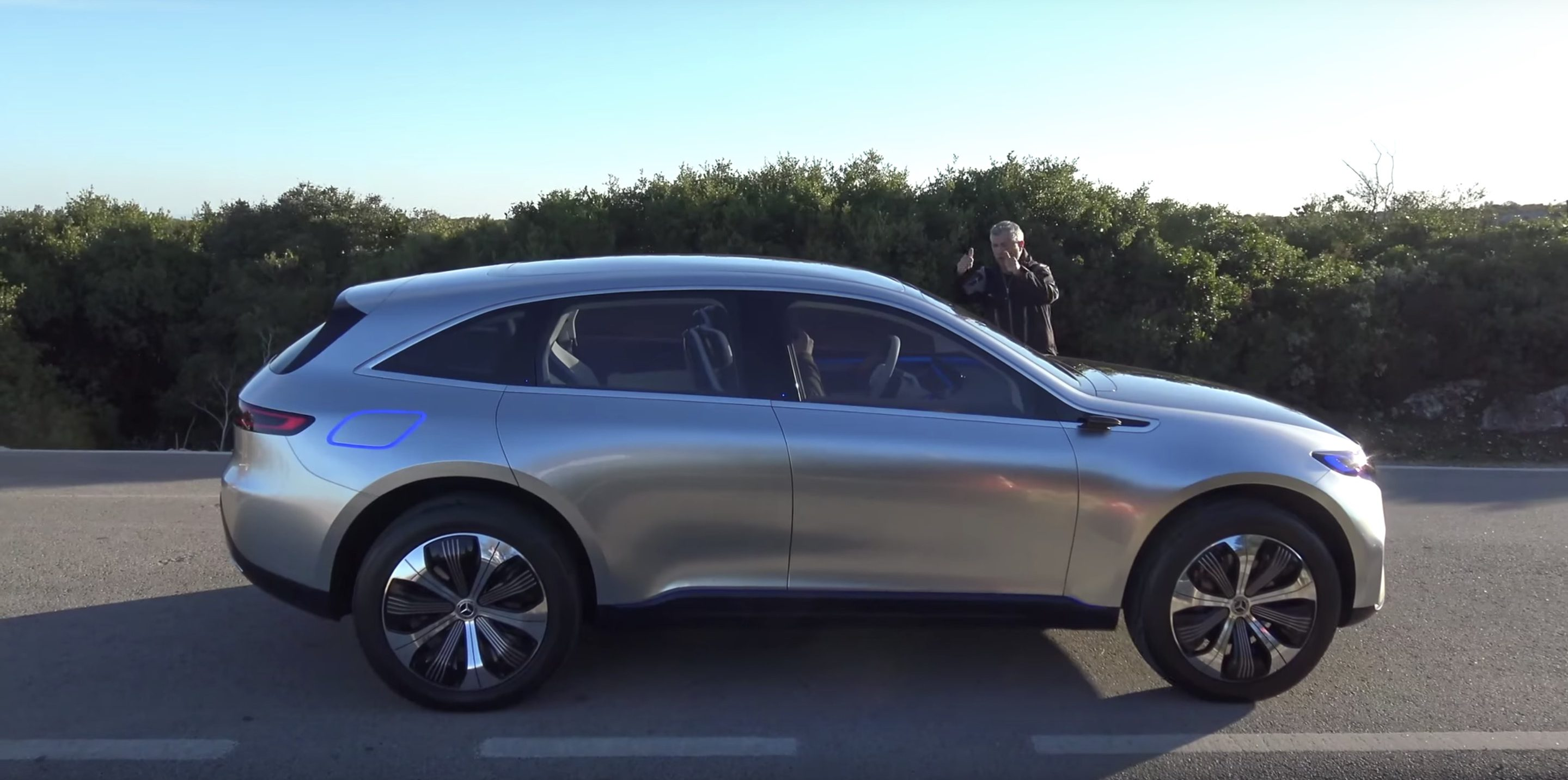 First Electric Motor Car For Rare Look At Mercedesbenzs First Nextgen Electric Car Concept Eq