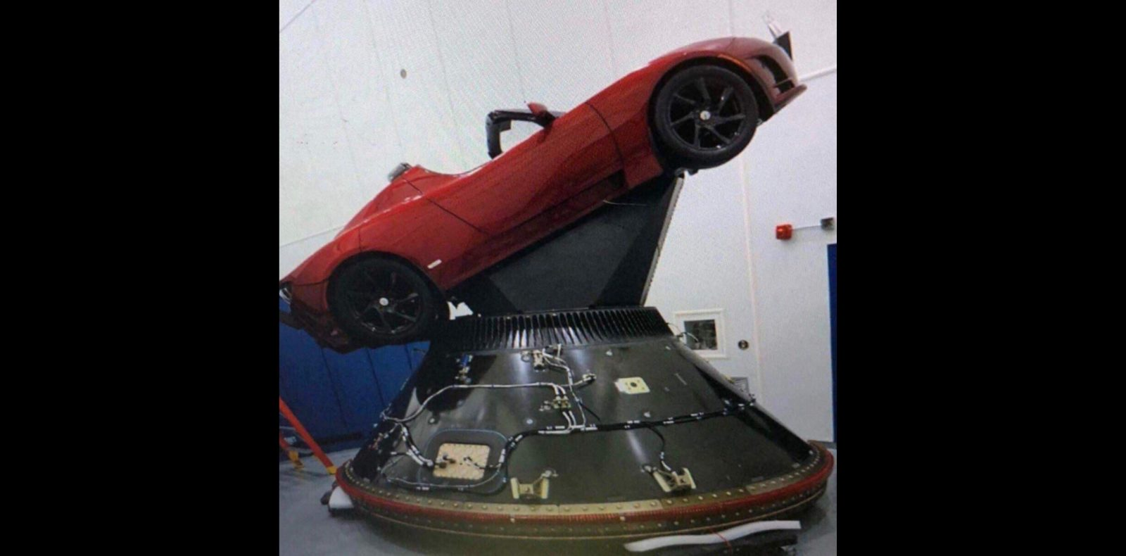 First Image of Elon Musk's Tesla Roadster getting ready to