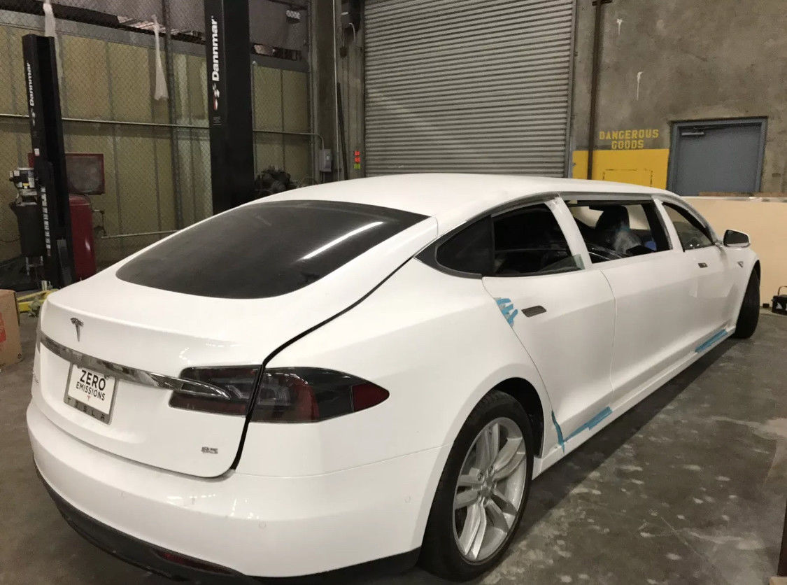 A Tesla Model S Stretch Limousine Goes Up For Auction Update Might Wire Harness How Much Would You Pay The Vehicle Let Us Know In Comment Section Below