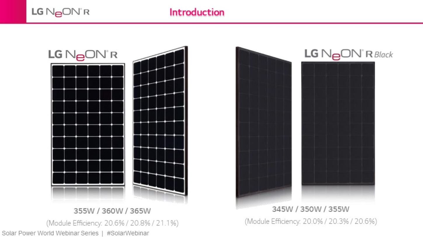 Flagship residential solar panel from LG breaks 21