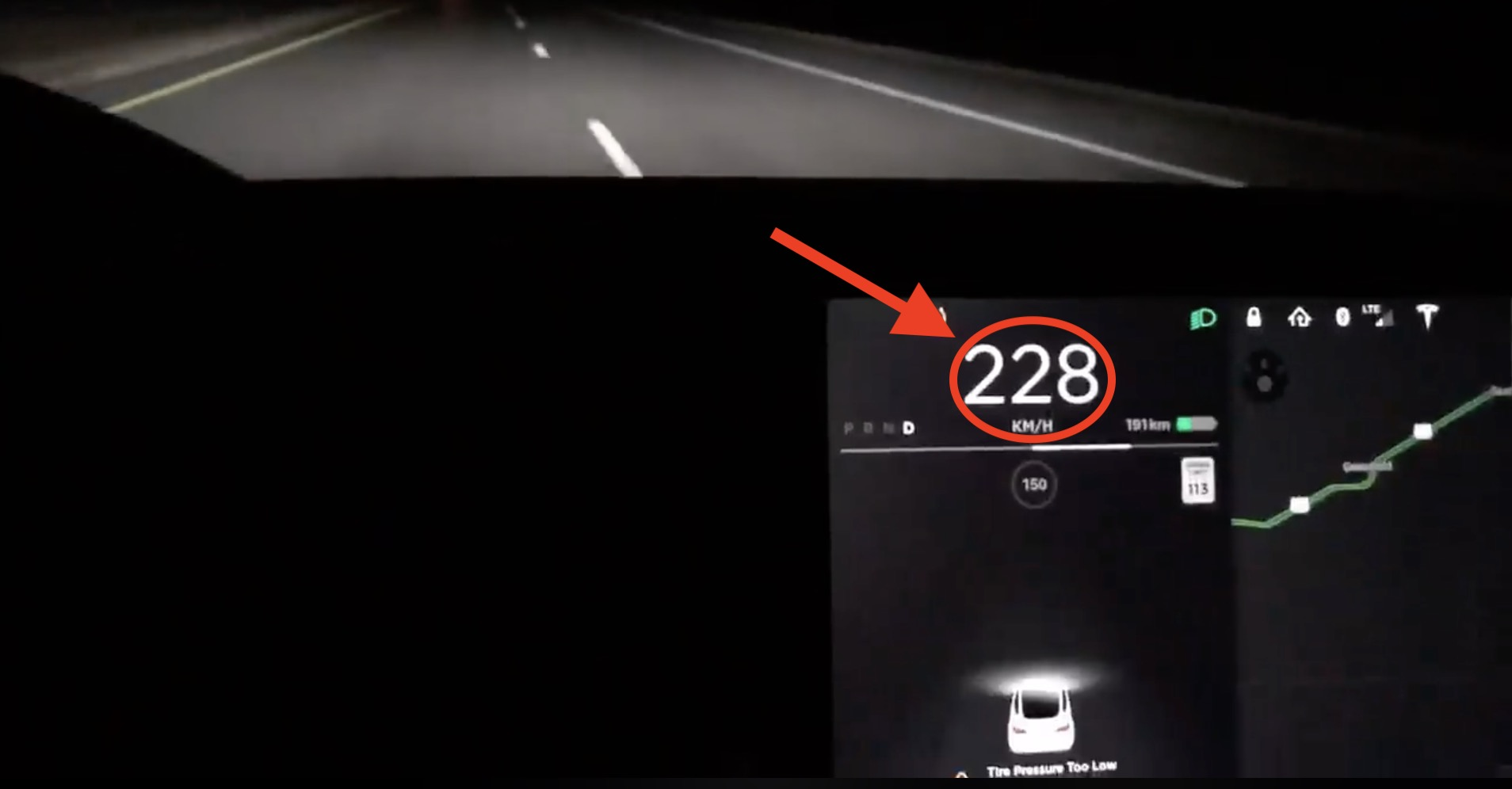 Tesla Model 3 Owner Shows Top Speed Of 141 Mph And Other