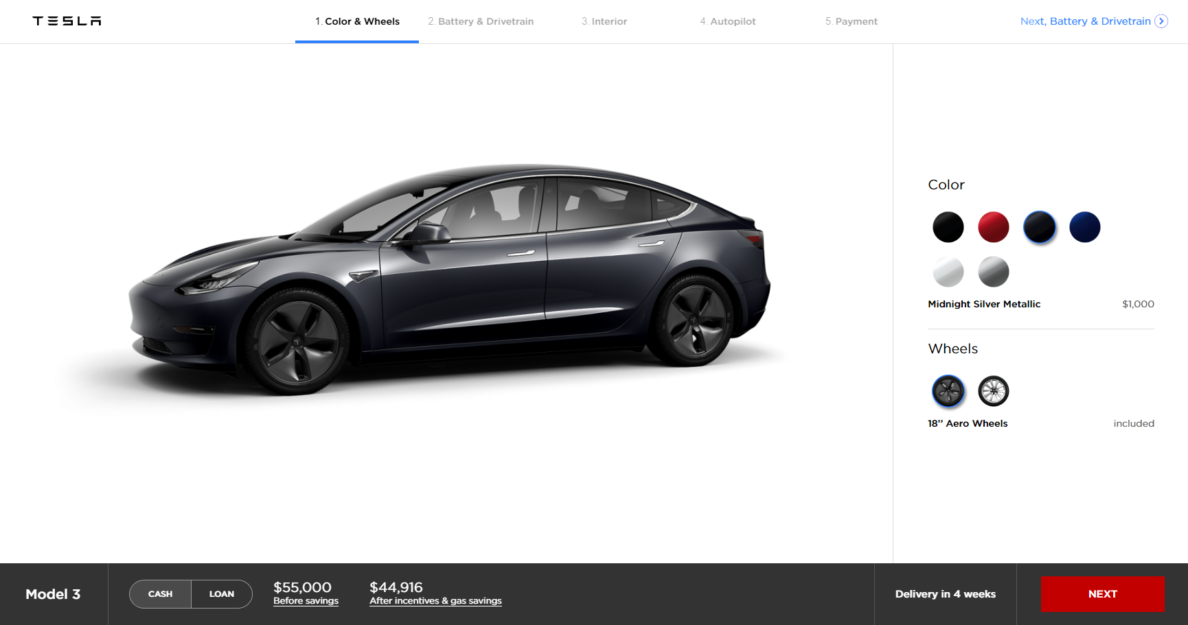 tesla updates model 3 configurator in preparation for more options rh electrek co