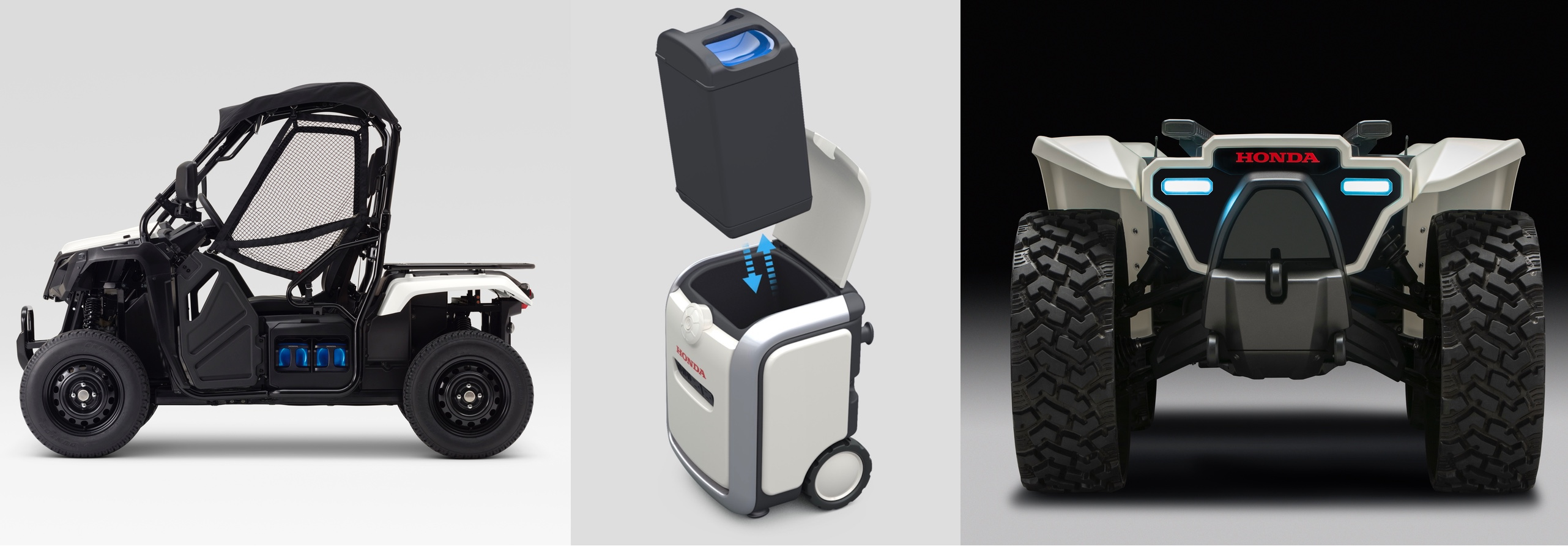 Honda unveils a new swappable battery pack ecosystem powering an ATV, UTV, mobile power pack, and more