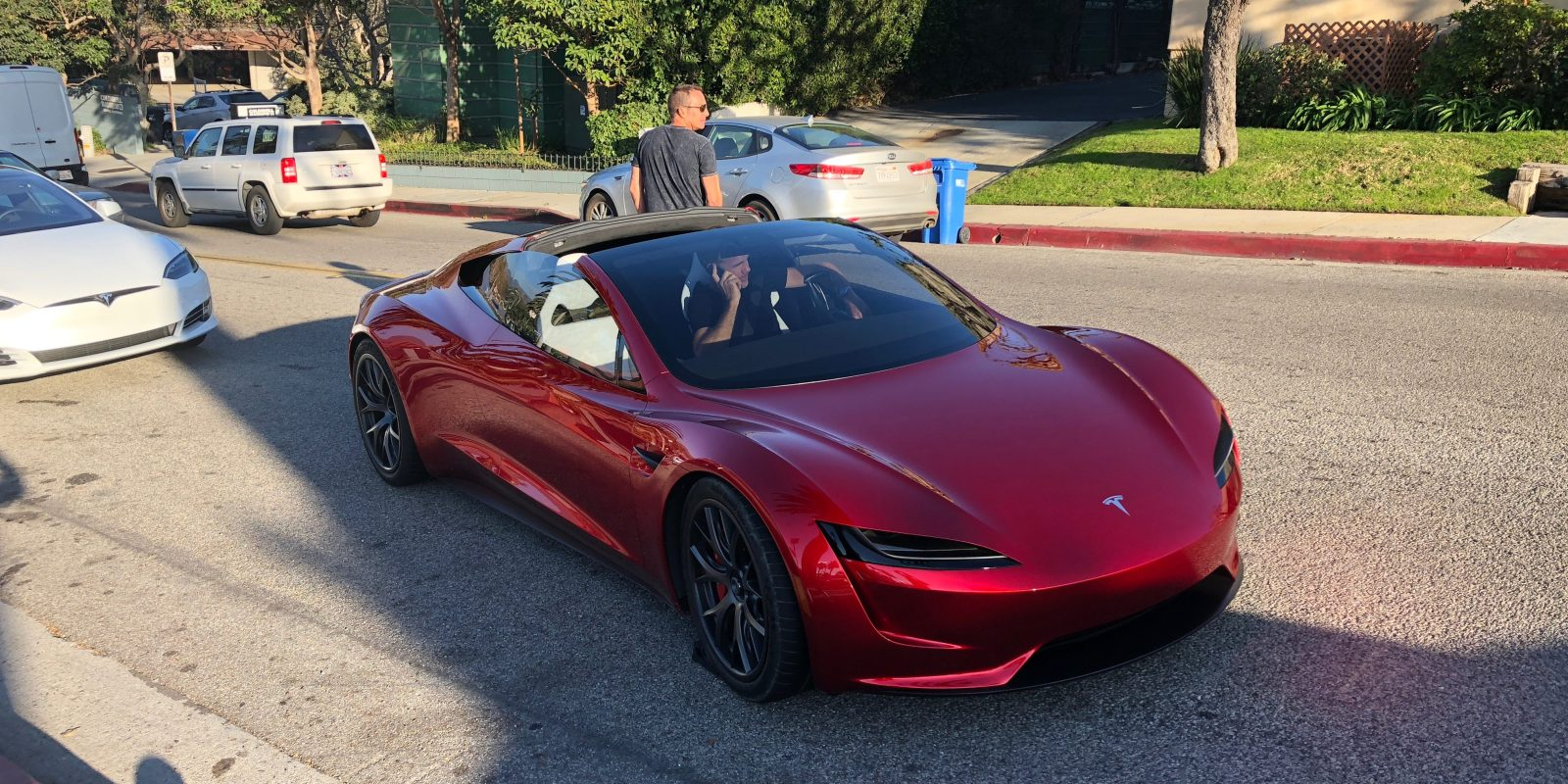 first next gen tesla roadster sighting in the wild prototype