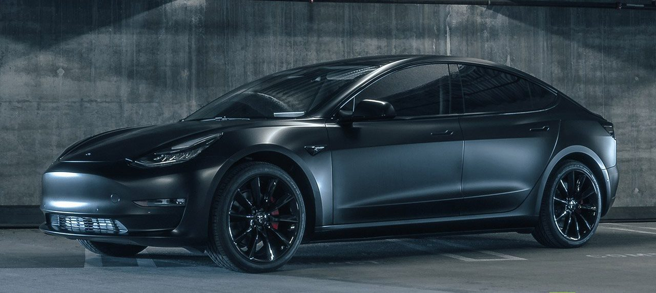 Tesla Model 3 In Matte Black Makes A Comeback With Aftermarket